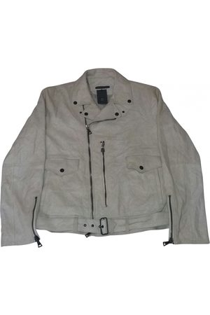 John Varvatos Ecru Leather Jackets