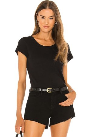 L'Agence Cory Short Sleeve Crew Neck Top in .