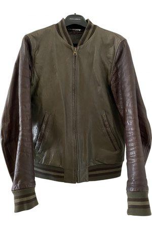 Dolce & Gabbana Khaki Leather Jackets