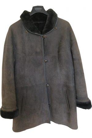 SHEARLING Grey Suede Coats