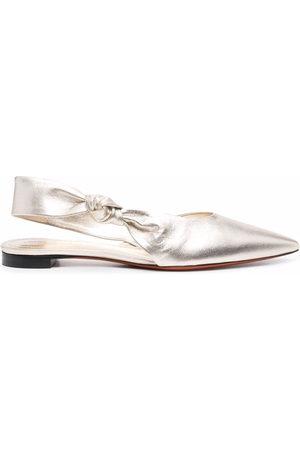 santoni Women Sandals - Metallic leather sandals