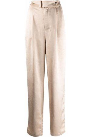 AERON Women Straight Leg Pants - Odile straight-leg satin trousers - Neutrals