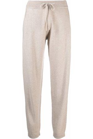 Lisa Yang Drawstring cashmere track pants - Neutrals