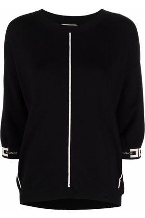 Elisabetta Franchi Women Blouses - Logo-print cuff blouse