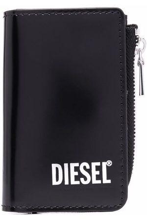 Diesel Men Wallets - Logo-print zip-up leather wallet