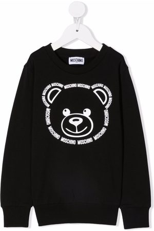 Moschino Teddy bear-print crew neck sweatshirt
