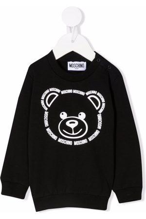 Moschino Kids Teddy bear-print crew neck sweatshirt