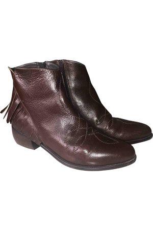 Colisée De Sacha Leather Ankle Boots