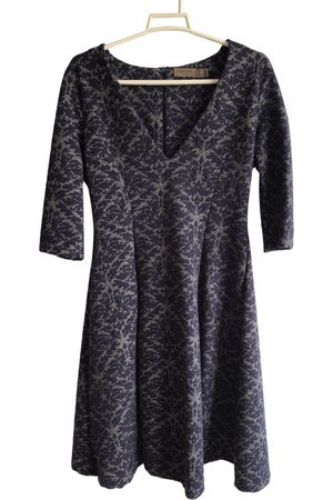 Cortefiel Navy Polyester Dresses