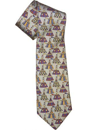 Longchamp Grey Silk Ties