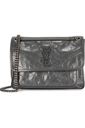 Saint Laurent Niki medium grey leather shoulder bag