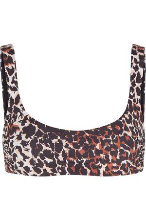 Veronica Beard Celeste leopard-print bikini top
