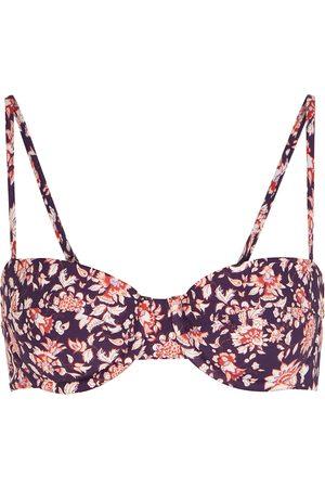 Veronica Beard Dyer floral-print underwired bikini top