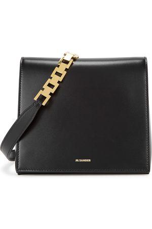 Jil Sander Prysm small leather shoulder bag