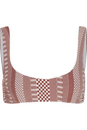 VERONICA BEARD Women Bikinis - Celeste geometric bikini top
