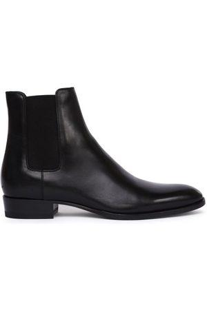 Saint Laurent Wyatt Leather Chelsea Boots - Mens