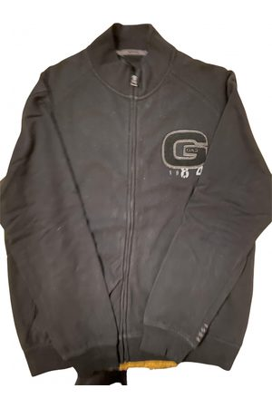 GAS Men Sweatshirts - Grey Cotton Knitwear & Sweatshirt