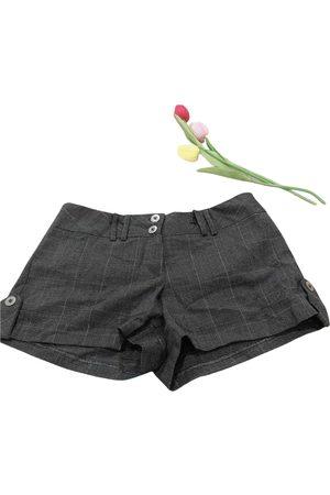 Valia Gabriel Women Shorts - Grey Polyester Shorts