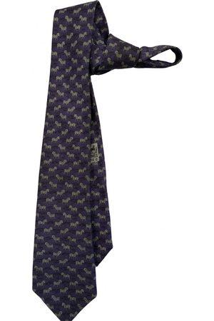 Hermès Navy Silk Ties