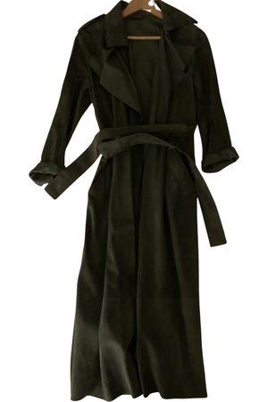 Tara Jarmon Khaki Leather Trench Coats