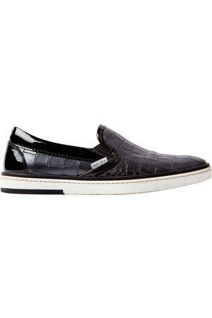 Jimmy Choo Grey Leather Flats