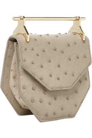 M2MALLETIER Grey Ostrich Handbags