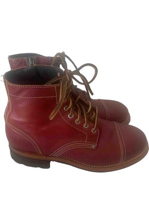 Dsquared2 Burgundy Leather Boots