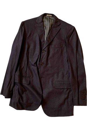 Bottega Veneta Men Jackets - Burgundy Wool Jackets