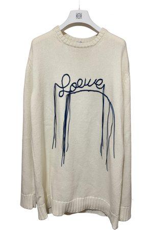 Loewe Ecru Cotton Knitwear & Sweatshirts