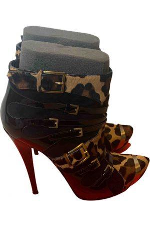 LARA Multicolour Leather Ankle Boots