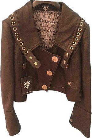 THOMAS WYLDE Women Leather Jackets - Leather biker jacket