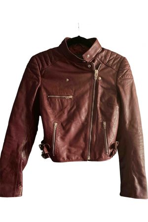 Alexander McQueen Burgundy Leather Leather Jackets