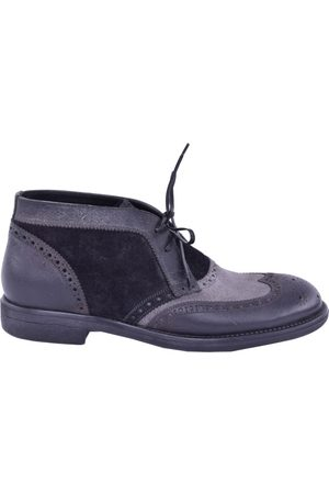 Dolce & Gabbana Men Boots - Grey Leather Boots