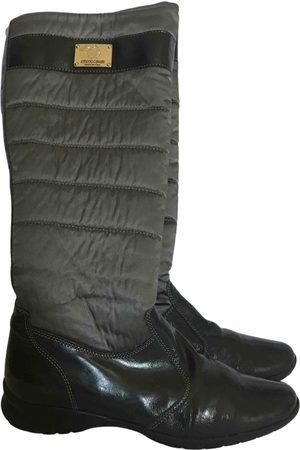 Roberto Cavalli Patent leather snow boots