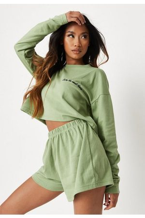 Missguided Green Enjoy The Small Things Loungewear Set