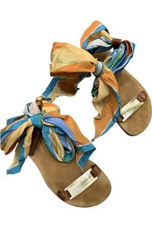 Avec Modération Multicolour Leather Sandals
