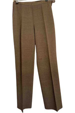 Caramel Synthetic Trousers