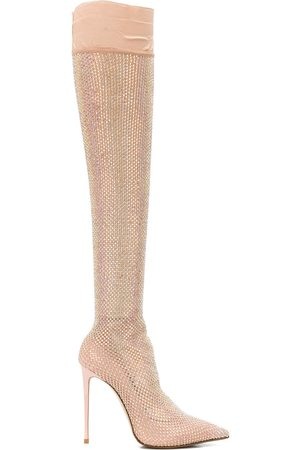 LE SILLA Women Thigh High Boots - Calzatura over the knee sock boots - Neutrals