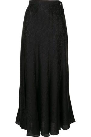 Zadig & Voltaire Women Printed Skirts - Snakeskin print midi skirt