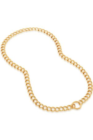 Monica Vinader Necklaces - Gold Groove Curb Chain Necklace