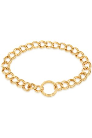 Monica Vinader Bracelets - Gold Groove Curb Chain Bracelet