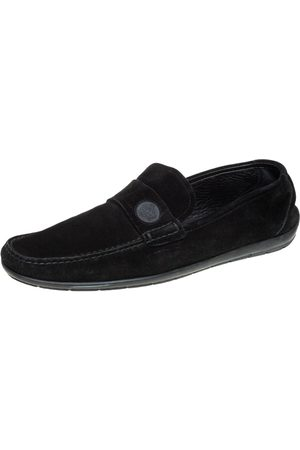 VERSACE Suede Slip On Loafers Size 46