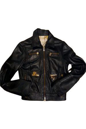 VIA DELLE PERLE Leather short vest