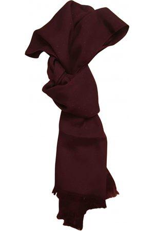 Ermenegildo Zegna Burgundy Silk Scarves & Pocket Squares