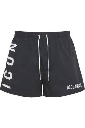 Dsquared2 Men Swim Shorts - Icon Print Nylon Swim Shorts