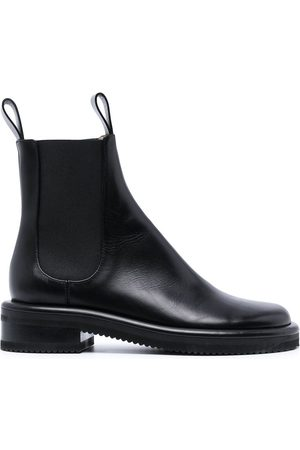 Proenza Schouler Women Ankle Boots - Pipe low-heel ankle boots