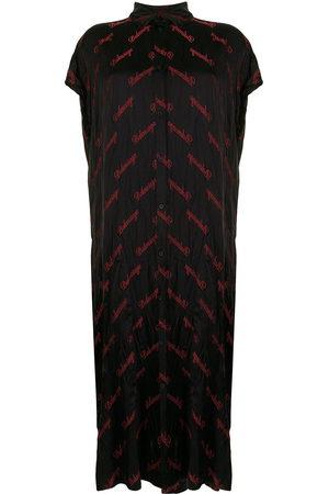 Balenciaga Women Casual Dresses - Rawcut SI logo-embroidered shirt dress