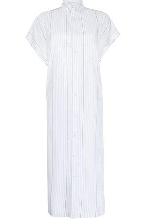 Balenciaga Women Casual Dresses - Rawcut SI logo-print shirt dress