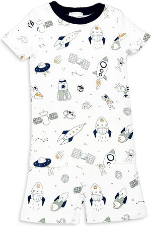 Noomie Boys Pajamas - Boys' Spaceships Short Sleeved Shorts Pajama Set - Little Kid