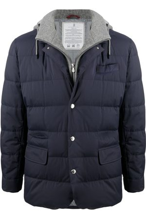 Brunello Cucinelli Layered-look padded down jacket